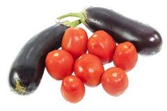 2 баклажан и томат 7 Стоковые Фотографии RF