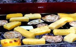 Баклажан и цукини на барбекю Стоковое фото RF