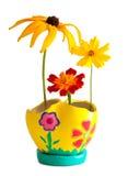 бак букета ярким покрашенный цветком Стоковое фото RF