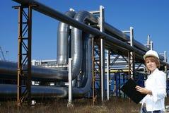 бак женского inpector фермы проверкы выполняя Стоковая Фотография RF