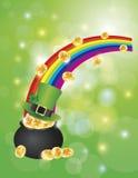 Бак золота с иллюстрацией предпосылки Bokeh Стоковые Фото