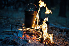 Бак и пожар Стоковая Фотография RF