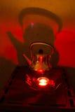 Бак и свеча кофе в коттедже в глуши Стоковые Фото