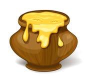 Бак меда шаржа Стоковые Изображения