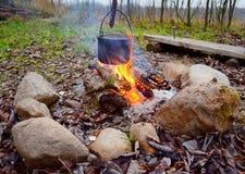Бак над огнем Стоковое Изображение
