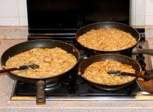 Бак с много FRICO, блюдо кухни Friulan Италии стоковая фотография rf