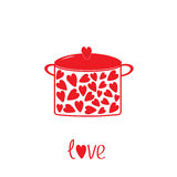 Бак с сердцами.  Карточка влюбленности. бесплатная иллюстрация