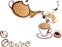 бак чашки coffe иллюстрация вектора