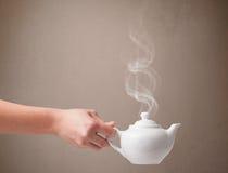 Бак чая с абстрактным белым паром Стоковое Изображение
