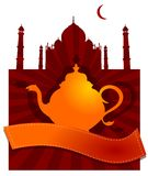 Бак чая Тадж-Махала красный  Стоковое Фото