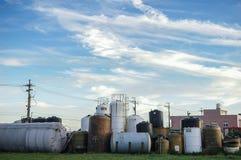 Бак для хранения в регулируемой газовой среде на дороге, газовой промышленности, впрыске газа, хранении и извлечении от подземных Стоковое Изображение RF