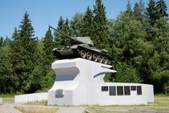Бак t-34 на постаменте Стоковое фото RF