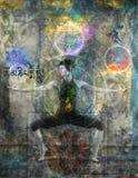 балансируя chakras бесплатная иллюстрация