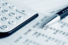 баланс финансовохозяйственный стоковое изображение