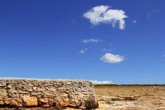 балеарский голубой камень неба masonry острова formentera Стоковая Фотография