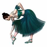 Балерина в зеленом цвете Стоковое фото RF