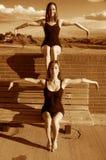балерины удваивают соединено Стоковые Фотографии RF
