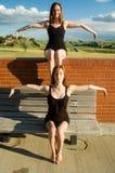 балерины удваивают соединено стоковое фото rf
