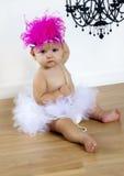 балетная пачка шлема девушки младенца милая Стоковые Фото