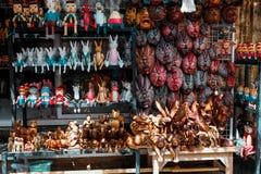 Балийские деревянные ручной работы игрушки стоковое фото rf