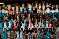 Балийские деревянные ручной работы игрушки стоковое изображение