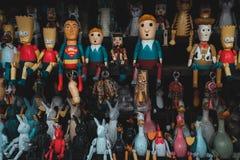 Балийские деревянные ручной работы игрушки стоковая фотография rf