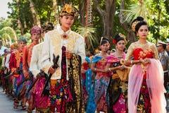 Балийские танцоры в традиционном костюме Стоковая Фотография