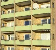 Балконы в жилом доме квартиры Стоковое фото RF