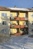 Балконы в жилом доме квартиры Стоковое Изображение