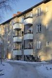 Балконы в жилом доме квартиры Стоковая Фотография
