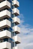 Балконы самомоднейшего здания Стоковые Фото