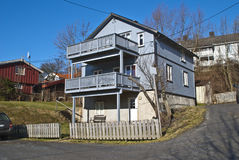 балконы halden деревянное домов старое Стоковое Изображение