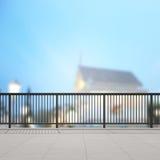 Балкон и терраса предпосылки экстерьера нерезкости Стоковое Изображение RF
