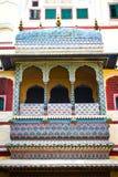 Балкон произведения искусства в дворце города Стоковое Изображение RF