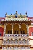 Балкон произведения искусства в дворце Стоковая Фотография