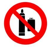 Баллоны пропана не позволены Знак запрета и безопасности, иллюстрация штока