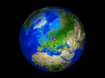 Балтийские страны на земле от космоса стоковые изображения