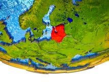 Балтийские страны на земле 3D стоковое изображение rf