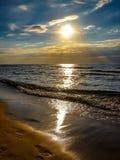 Балтийское море захода солнца Стоковые Фотографии RF
