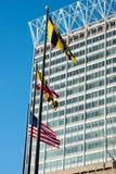 БАЛТИМОР, МЭРИЛЕНД - 18-ОЕ ФЕВРАЛЯ: Внутренняя гавань в Балтиморе, Мэриленде, США 18-ого февраля 2017 Стоковые Изображения