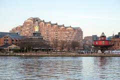 БАЛТИМОР, МЭРИЛЕНД - 18-ОЕ ФЕВРАЛЯ: Внутренняя гавань в Балтиморе, Мэриленде, США 18-ого февраля 2017 Стоковая Фотография RF