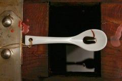 Бальзамический уксус Моденаа, Италии, стеклянной бутылки содержа специальный услащая Модена Стоковая Фотография RF