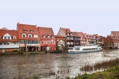 Бамберг, Бавария, Германия, урбанский ландшафт Стоковое Изображение RF
