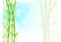 Бамбуковая азиатская предпосылка Бесплатная Иллюстрация