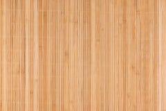 Бамбуковая бежевая циновка как абстрактная текстура, предпосылка, состав Стоковые Изображения