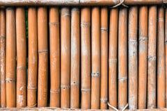 Бамбуковая загородка на старом тоне для текстуры предпосылки Стоковые Фото