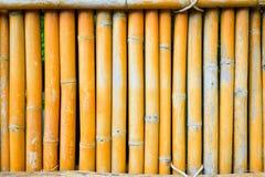 Бамбуковая загородка на старом тоне для текстуры предпосылки Стоковая Фотография RF