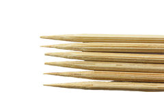 Бамбуковая зубочистка изолированный стоковое фото