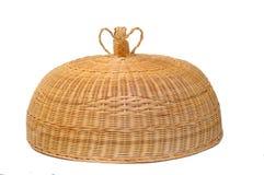 Бамбуковая изолированная корзина Стоковое Изображение RF
