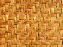 Бамбуковая картина weave Стоковая Фотография